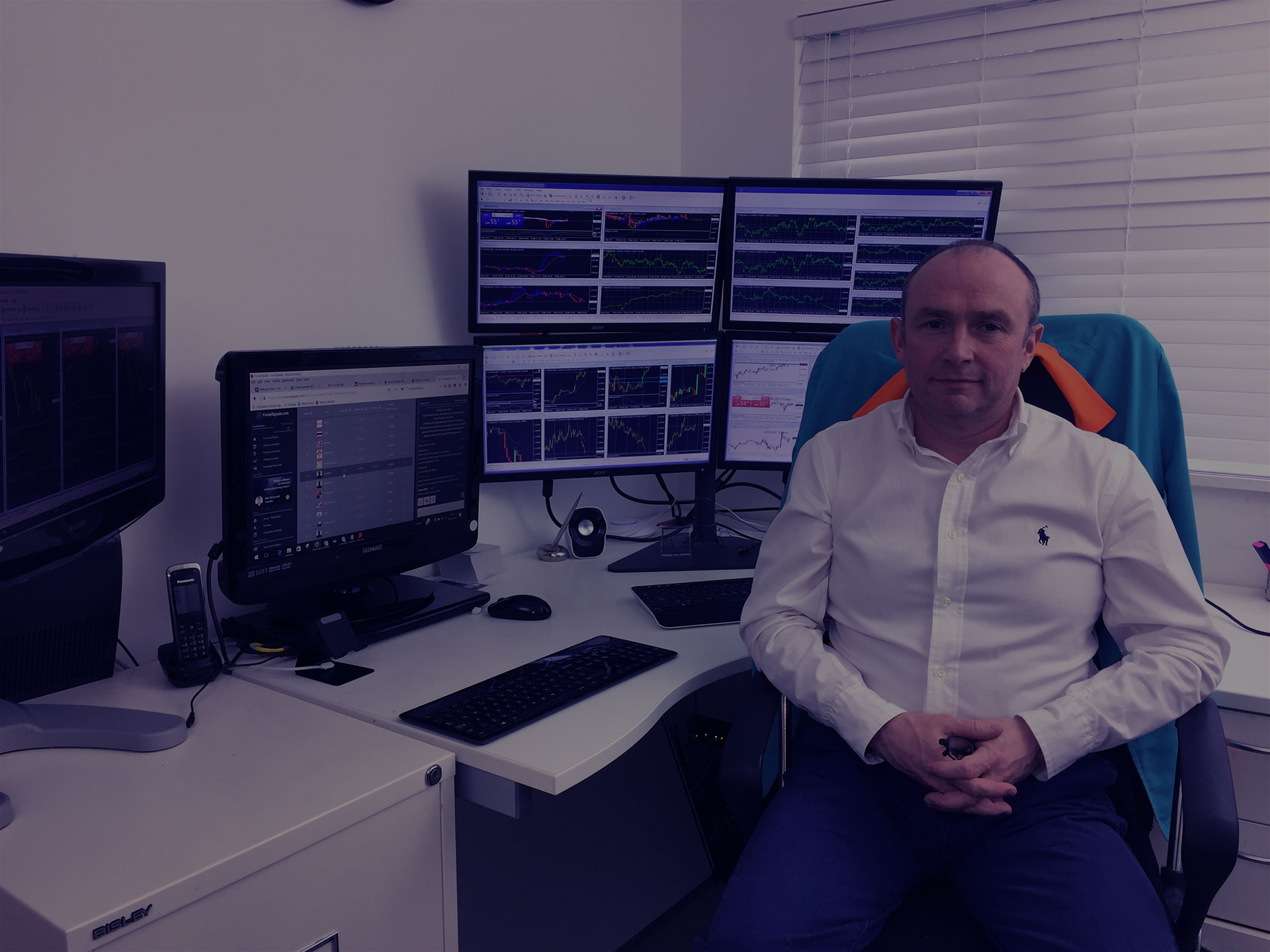 Binary options trading room